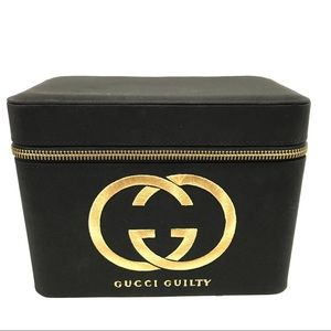 Gucci Guilty Perfume Black / Gold Traincase Box